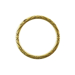 Bronze Plate Jump Ring - Fancy Flourish 31mm Pkg - 1