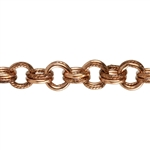Copper Chain - Solid & Textured Double Cable 5mm - 1 Foot