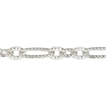 Silver Plate Chain - Pattern Link 1.33mm