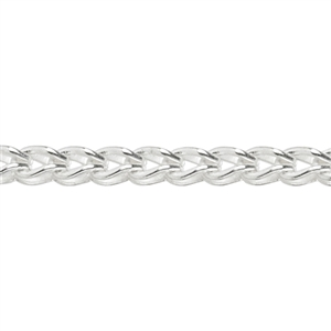 Sterling Silver Chain - 2.4mm Foxtail Chain - 1 Foot