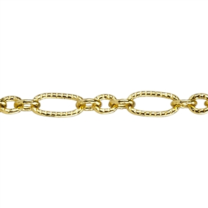 Brass Plate Chain - Pattern Link 1.33mm
