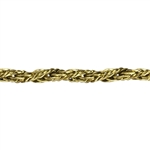 Brass Chain Twisted Mesh