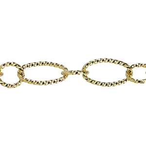 Brass Plate Chain - Open Twist 6.15mm