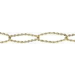 Brass Plate Chain - Open Twist Cable 12.96mm
