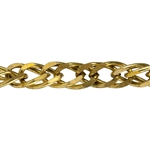 Brass Chain - Flat Double Curb 11mm - 1 Foot