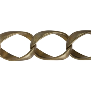 Brass Chain - Oval Curb 30.5mm - 1 Foot