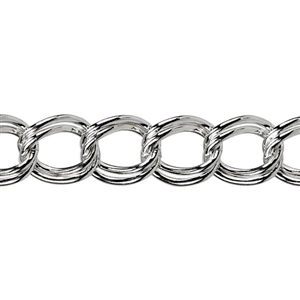 Sterling Silver Parallel Curb Chain 5.3 x 4.4mm - 1 Foot