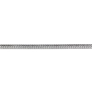 Sterling Silver Snake Chain (Rhodium) 1mm - 18 inch - Pkg/1