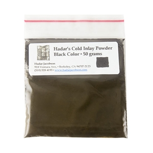 Hadar's Clay - Cold Inlay Powder - Black Color 50 gram