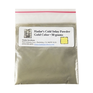 Hadar's Clay - Cold Inlay Powder - Gold Color 50 gram