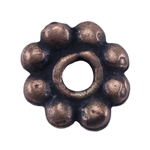 Copper Plate Beaded Heishi - 4mm