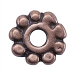 Copper Plate Beaded Heishi - 6mm Pkg - 25