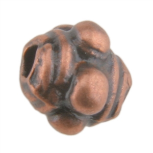 Copper Plate Beaded Spacer - 3mm Pkg - 10