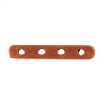 Copper Plate Bar Spacer - Quadruple Strand Pkg - 2