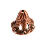 Copper Plate Bead Cap - Canterbury Bell 6mm Pkg - 1