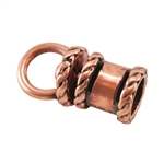 Copper Plate End Cap - Swivel Fancy 4mm Pkg - 2