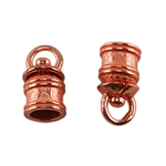 Copper Plate End Caps - Swivel Floral 5mm Pkg - 2