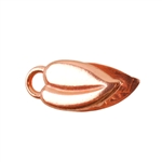 Copper Plate Crimp End Cap - Heart Leaf 3mm Pkg - 2
