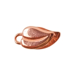 Copper Plate Crimp End Cap - Heart Leaf 4mm Pkg - 2