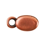Copper Plate Crimp End Cap - Oval 2mm Pkg - 2