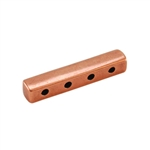 Copper Plate End Bar - Quadruple Strand Pkg - 2