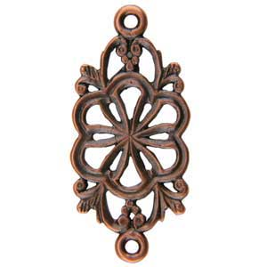Copper Plate Connector - Floral Pkg - 2