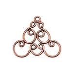 Copper Plate Connector - Filigree Triangle Connector Pkg - 2