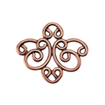 Copper Plate Connector - Filigree Medium Connector Pkg - 2