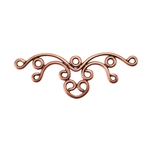 Copper Plate Connector - Filigree Multi Connector Pkg - 2