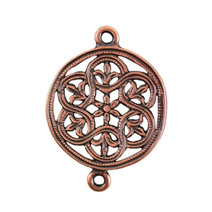 Copper Plate Connector - Eternal Fleur de Lis Pkg - 2