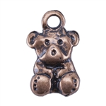Copper Plate Charm - Teddy Bear Pkg - 3