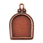 Copper Plate Pendant - Simple Frame Pkg - 1