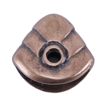 Copper Plate Pinch Bail - Fish Head Pkg - 2