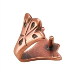 Copper Plate Pinch Bail - Decorative Pkg - 3