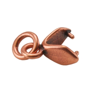 Copper Plate Pinch Bail - Simple with Jump Ring Small Pkg - 3