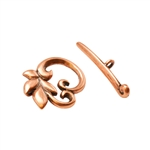 Copper Plate Mini Toggle Clasp - Designer Fern - 1 Set