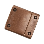 Antique Copper Plate Magnetic Leather Clasp - Flat Rivet 15mm