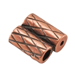 Copper Plate Slide Ends - Double Strand 2mm Pkg - 2