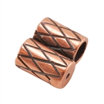 Copper Plate Slide Ends - Double Strand 3mm Pkg - 2