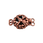 Copper Plate Double Strand Clasp - Puffed Fleur