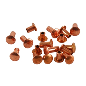 "Copper Plate Miniature Rivet - 1/16"" Assorted Short Shaft Lengths Pkg - 100"