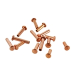 "Copper Plate Miniature Rivet - 1/16"" Assorted Medium Shaft Lengths Pkg - 125"