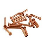 "Copper Plate Miniature Rivet - 1/16"" Assorted Long Shaft Lengths Pkg - 125"