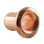 "Copper Plate Eyelet Rivet - 1/8"" Pkg - 24"