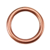 Copper Plate Jump Ring - Round 10.5mm Pkg - 2