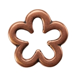 Copper Plate Jump Ring - Flower Medium Pkg - 2
