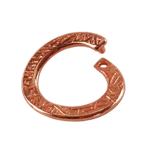 Copper Plate Jump Ring - Locking Stamped Round 12.5mm Pkg - 2