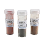 Hadar's Clay - One-Fire Sampler - High Fire Champagne Bronze, Quick Fire Friendly Copper and Low-Shrinkage Steel XT - 50 grams