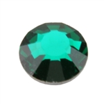 Crystal Emerald: Round Flat Back 7.4mm
