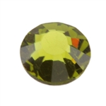 Crystal Olivine: Round Flat Back 7.4mm